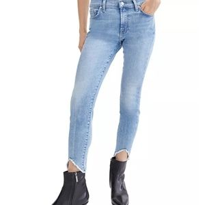 7 for All Mankind raw hem jeans